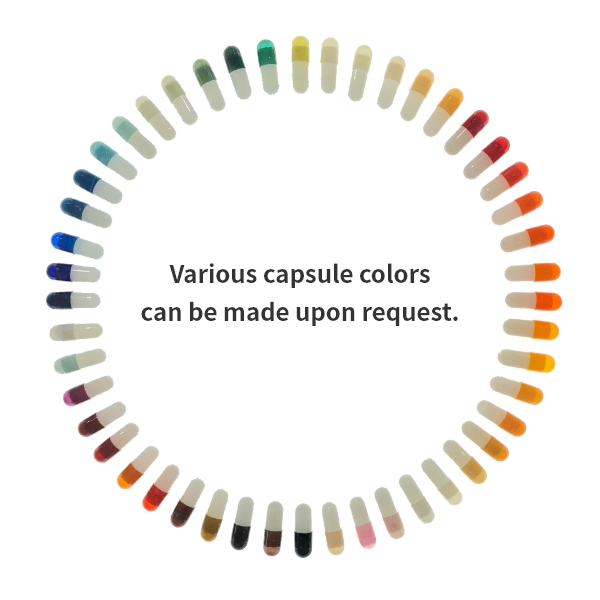 Various capsule colors can be made upon request.