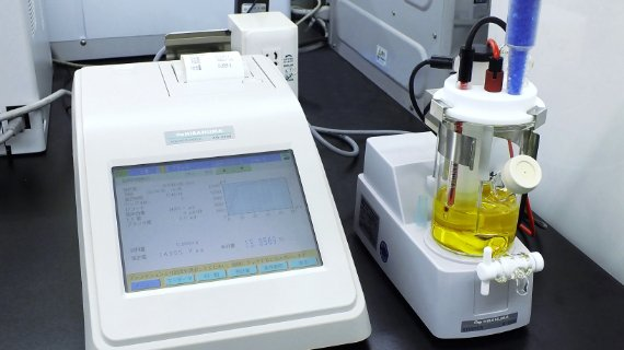 Chemical tests (moisture content)